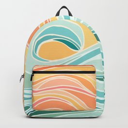 Sea and Sky II / Abstract Landscape Backpack