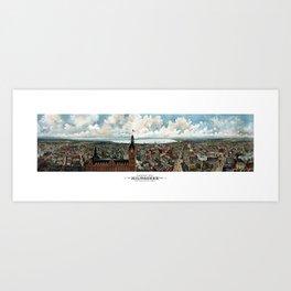 Milwaukee Wisconsin - Vintage Panoramic View Art Print