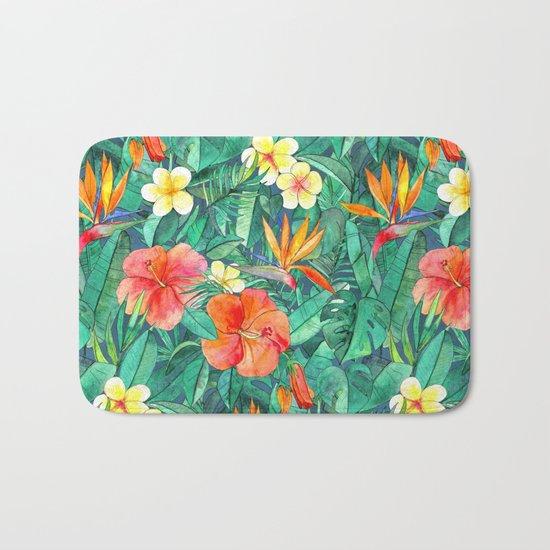 Classic Tropical Garden Bath Mat