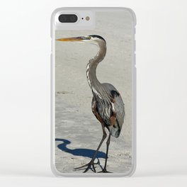 Living On A Beach Clear iPhone Case