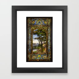 Louis Comfort Tiffany - Decorative stained glass 14. Framed Art Print