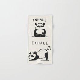 Inhale Exhale Panda Hand & Bath Towel
