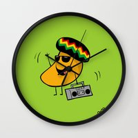 Jamaican Mango Wall Clock