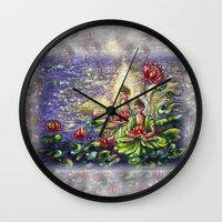 buddha Wall Clocks featuring Buddha  by Harsh Malik