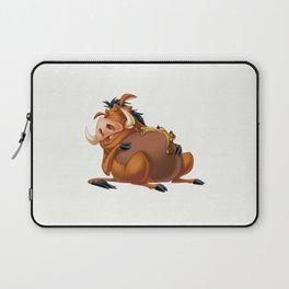 Slipping Timon and Pumbaa Laptop Sleeve