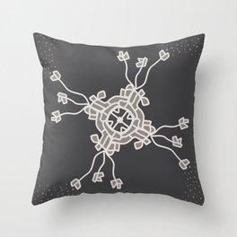 Floral gadgetry  Throw Pillow