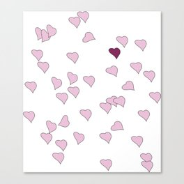 Floating Hearts Canvas Print