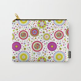 Amelia's Circles White Carry-All Pouch