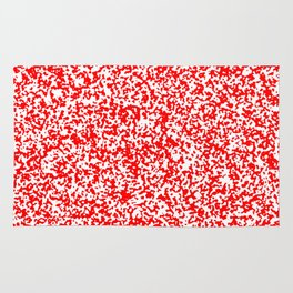 Tiny Spots - White and Red Rug