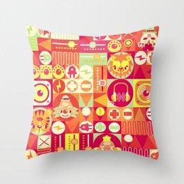 Electro Circus Throw Pillow
