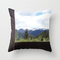 Peeking Out Throw Pillow