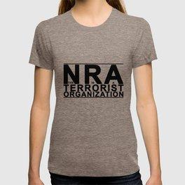 The NRA is a Terrorist Organization - Black Lettering T-shirt