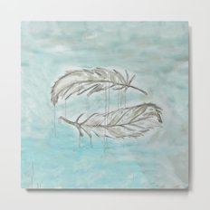 Feathers and memories Metal Print
