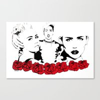 miley cyrus Canvas Prints featuring Miley Cyrus by Kunooz