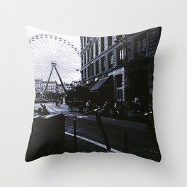 Bellecour, historic neighbourhood of Lyon - Fine Arts Photography Throw Pillow
