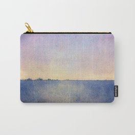 Watercolour Sunset Textural Abstract Painting Carry-All Pouch