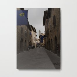 Cobble Stone Streets of Italy Metal Print