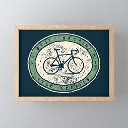 Bicycle - Best Machine Ever Created Framed Mini Art Print