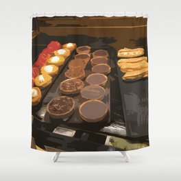 Tarts and eclairs Shower Curtain