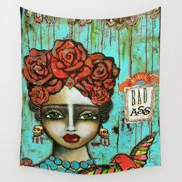 FRIDA PAINTING BAD ASS Wall Tapestry