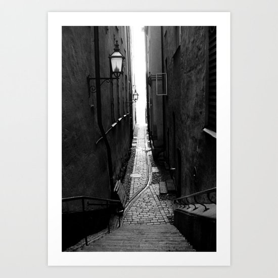 Old Town Alley Art Print By Predicaments