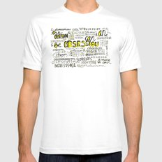 Obsession can be an obsession Mens Fitted Tee White MEDIUM