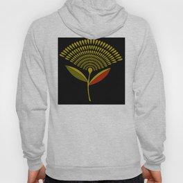 Mid Century Modern Dandelion Seed Head In Aspen Gold Hoody