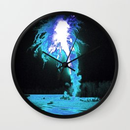 Fire over Ice Wall Clock