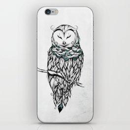 Poetic Snow Owl iPhone Skin