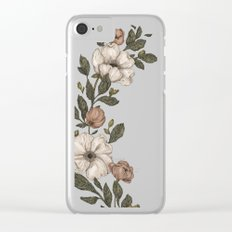Floral Laurel Clear iPhone Case