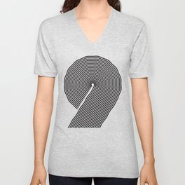 wobbly 9 Unisex V-Neck