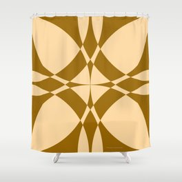 Abstract Circles - Desert Shower Curtain