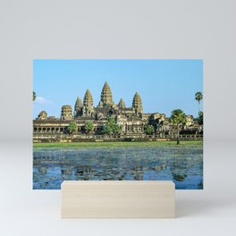 Angkor Wat and its reflection in the lake - Cambodia Mini Art Print