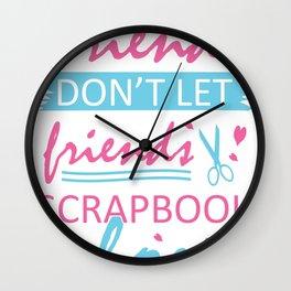 Scrapbooking Handicrafts Hobby Photos Gift Scrap Wall Clock