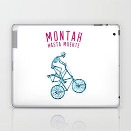"""Skeleton Bike - """"Montar Hasta Muerte"""" Laptop & iPad Skin"""