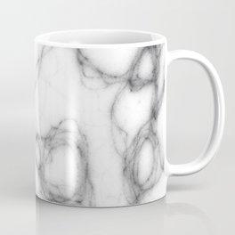 Black Smoke, White Marble Abstract Pattern Coffee Mug
