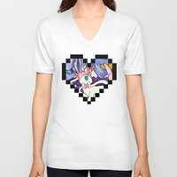 sylveon V-neck T-shirts featuring Eeveevolution Series - Sylveon by Jazmine Phillips
