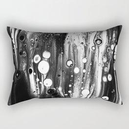 Blck White Lava Lamp Flow Rectangular Pillow