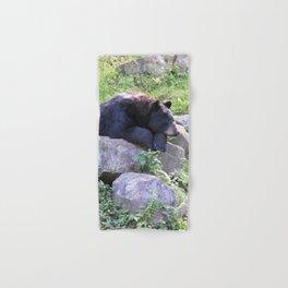 Contemplative Black Bear Hand & Bath Towel