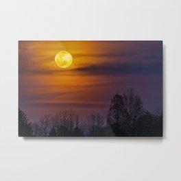Full Worm Moon Over Allentown Metal Print