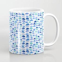 Blue scalloped pattern Coffee Mug