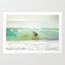 Gnarly Barrel - GoldCoast Art Print