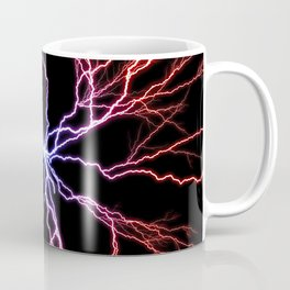 Electrical Lightning Discharge Blue to Red Coffee Mug