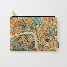 London Mosaic Map #3 Carry-All Pouch