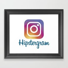 Hipstergram Framed Art Print