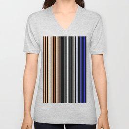 Red white and blue stripes Unisex V-Neck