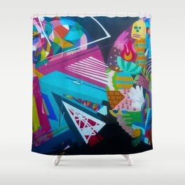 Color Rounds Shower Curtain