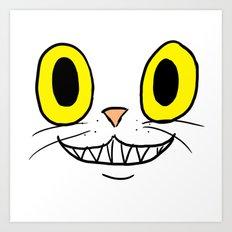 Cat Face 4 Art Print
