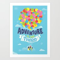 risa rodil Art Prints featuring Adventure is out there by Risa Rodil