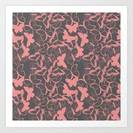 Butterfly pattern 012 Art Print